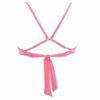 Γυναικείο μαγιό top με κορδόνια ροζ φλούο BLU4U