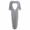 Γυναικείο ασύμμετρο φόρεμα ριγέ