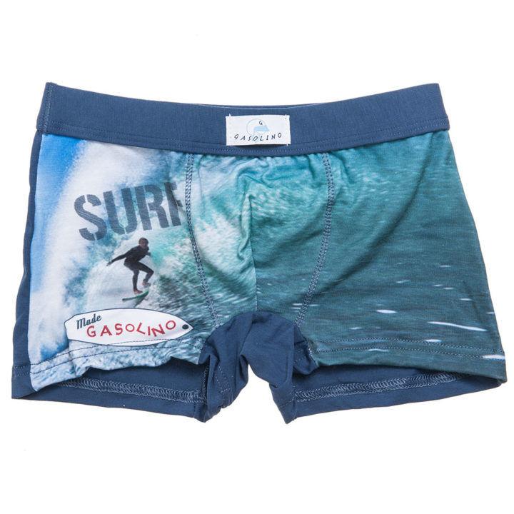 Παιδικό boxer μπλε Gasolino με σχέδιο surfer