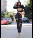 Αθλητικό γυναικείο κολάν με χρυσά χελιδόνια LISYANA