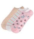 Γυναικείες κοφτές κάλτσες με σχέδια 3 τεμαχίων