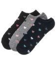 Γυναικείες κοφτές κάλτσες με σχέδιο καρδούλες 3 τεμαχίων