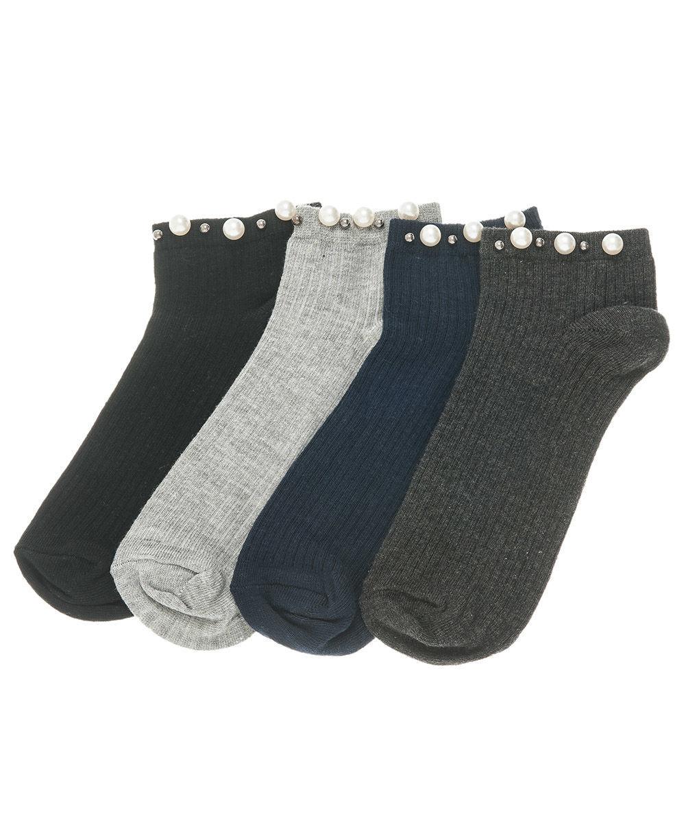Γυναικεία ημίκοντη κάλτσα με πέρλες eb54a8d3f33