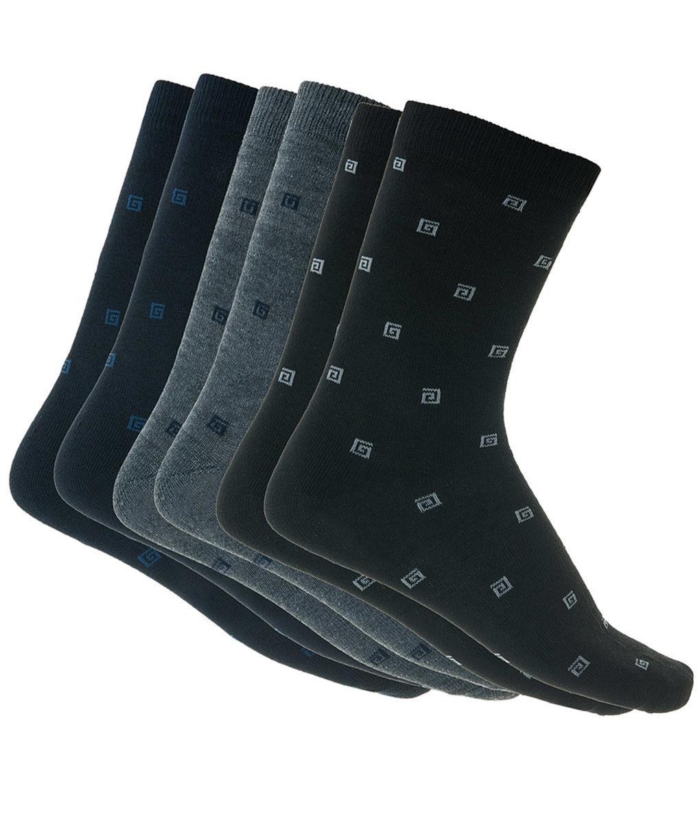 e19ba9de4051 Ανδρικές κάλτσες βαμβακερές με σχέδιο Μαύρο-Μπλε-Ανθρακί 3 ζεύγη
