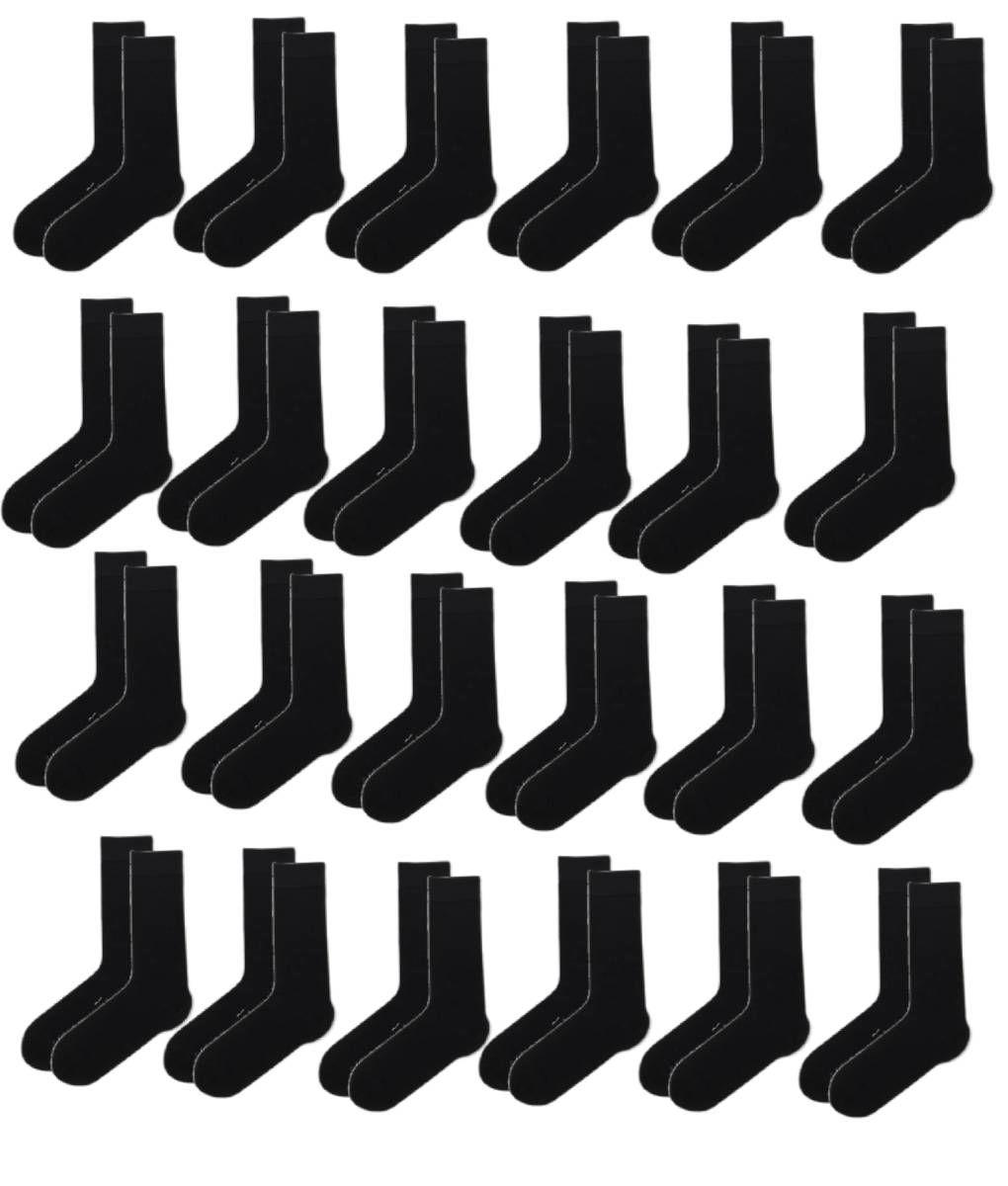 Κάλτσα βαμβακερή ανδρική σε μαύρο χρώμα 24 ζεύγη