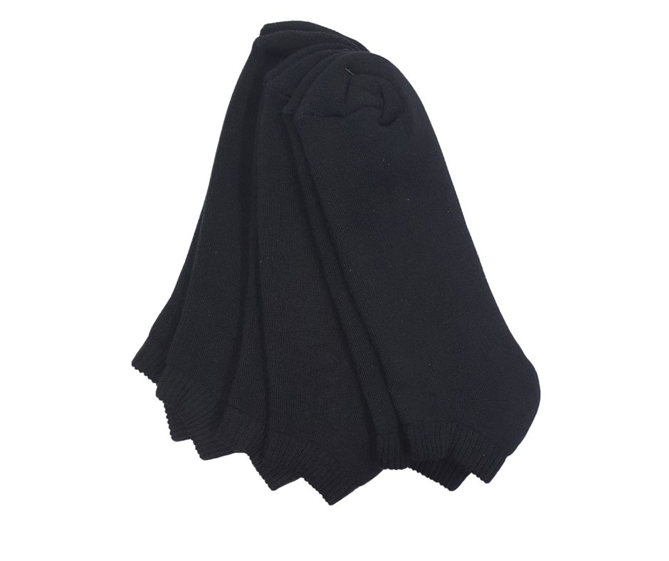 Μαύρη αθλητική βαμβακερή κοφτή κάλτσα 3pack